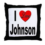 I Love Johnson Throw Pillow