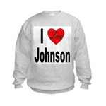 I Love Johnson (Front) Kids Sweatshirt