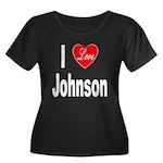 I Love Johnson (Front) Women's Plus Size Scoop Nec
