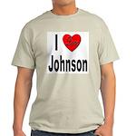 I Love Johnson (Front) Light T-Shirt