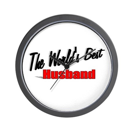 """The World's Best Husband"" Wall Clock"