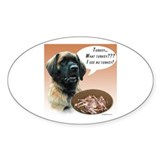 Leonberger Turkey Oval Decal