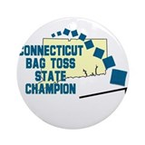 Connecticut Bag Toss State Ch Ornament (Round)