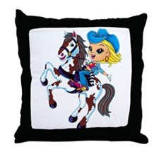Cute Cowgirl Throw Pillow