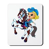 Cute Cowgirl Mousepad