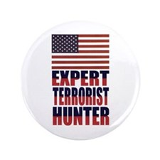 "USA-EXPERT TERRORIST HUNTER 3.5"" Button"