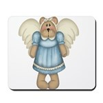 Blue Bear Angel Mousepad