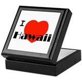 I Love Hawaii Keepsake Box