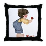 Boy w/Ladybugs Throw Pillow