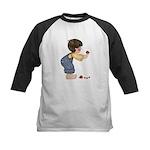 Boy w/Ladybugs Kids Baseball Jersey
