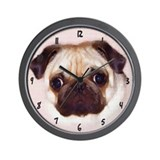 Pug Art Wall Clock - Fawn