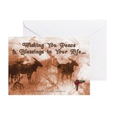 Great Spirit Blessings Christmas Greeting Card