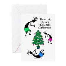 Kokopelli Christmas Greeting Cards (Pk of 20)
