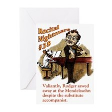 Recital Nightmare Greeting Cards (Pk of 10)