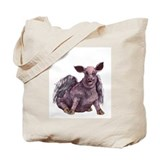 flying piggie tote bag