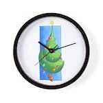 Christmas Tree White Wall Clock