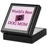 World's Best Dog Mom Keepsake Box