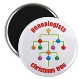 Genealogists Christmas Tree Magnet