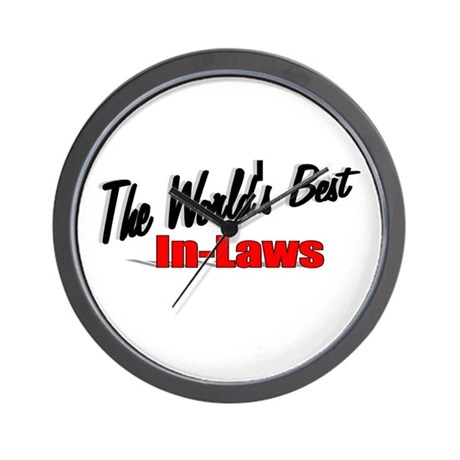 """The World's Best In-Laws"" Wall Clock"