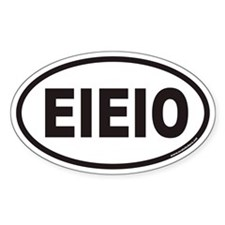 EIEIO Euro Oval Decal