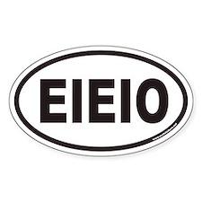 EIEIO Euro Oval Decal