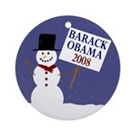 Barack Obama Winter Tree Ornament
