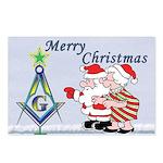 Mr. & Mrs. Claus's Masonic Christmas Postcards (P