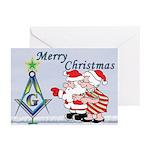 Mr. & Mrs. Claus's Masonic Christmas Greeting Car