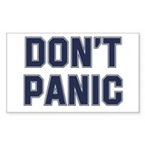 Don't Panic Rectangle Decal