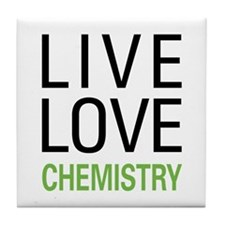 Live Love Chemistry Tile Coaster