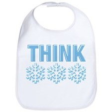 Think Snow Blue Bib