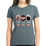 Peace Love Bowl Bowling Tee