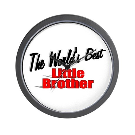 """The World's Best Little Brother"" Wall Clock"