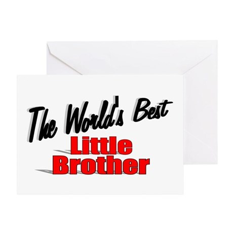 """The World's Best Little Brother"" Greeting Card"