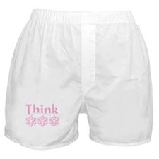Think Snow Pink Boxer Shorts