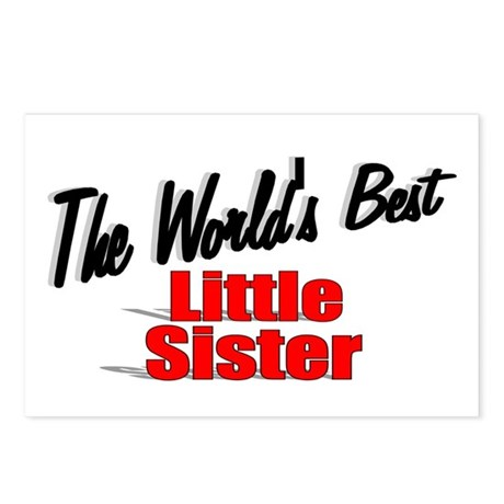 """The World's Best Little Sister"" Postcards (Packag"