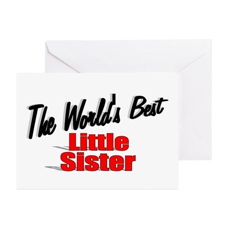 """The World's Best Little Sister"" Greeting Cards (P"