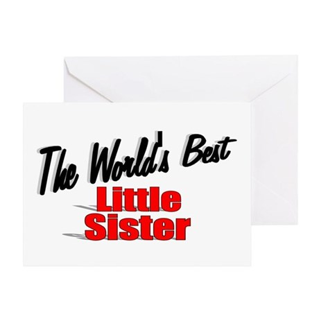"""The World's Best Little Sister"" Greeting Card"