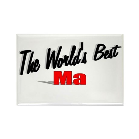 """The World's Best Ma"" Rectangle Magnet"