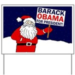 Santa for Obama Whimsical Yard Sign