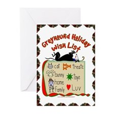 GREYHOUND HOLIDAY WISH LIST GREET CARDS (PKG 20)