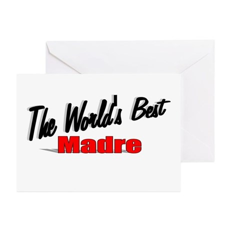 """The World's Best Madre"" Greeting Cards (Pk of 20)"