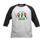 Big Sister Christmas lights Kids Baseball Jersey