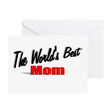 """The World's Best Mom"" Greeting Cards (Pk of 20)"