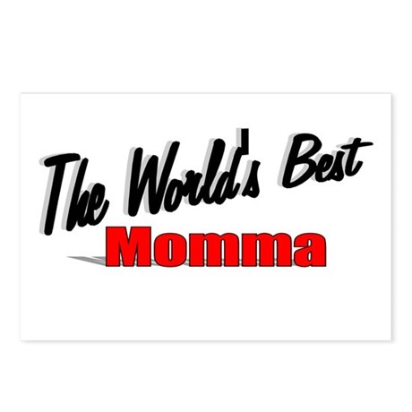 """The World's Best Momma"" Postcards (Package of 8)"