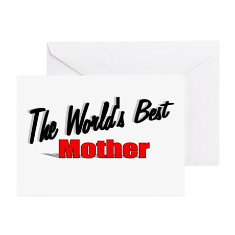 &quot;The World's Best Mother&quot; Greeting Cards (Pk of 20