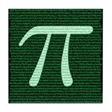 Pi Design 2 Tile Coaster