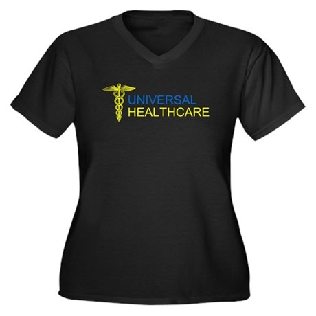 Universal Healthcare Womens Plus Size V-Neck Dark