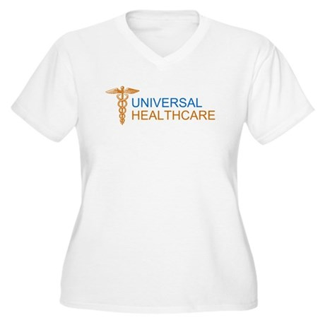 Universal Healthcare Womens Plus Size V-Neck T-Sh