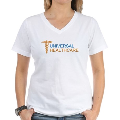 Universal Healthcare Womens V-Neck T-Shirt